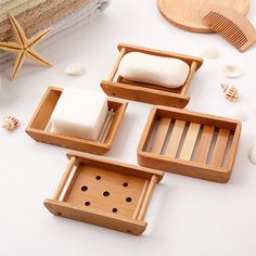 Soap Holder Dish Bathroom Shower Storage Plate Stand Dishes Container Box hot