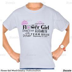 Flower Girl Word Cloud Shirts