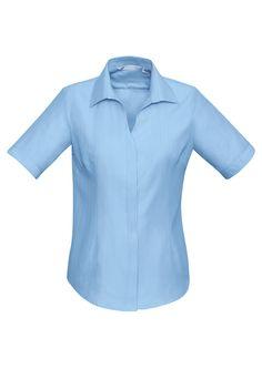 Code: BCS312LS Name: Ladies Preston Short Sleeve Shirt BCS312LS Size: 12 | 20 | 14 | 6 | 18 | 24 | 8 | 10 | 16 | 22 Available Colours: Blue | White | Black Desc