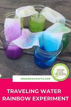 Kids love rainbow activities and today I'm sharing a fun rainbow science experiment. This activity can be used as an extension of our kitchen science or magic science discovery boxes available on our website. Rainbows always make me think of spring but this activity can be done year-round. I'm adding it this week as part of our ongoing science series here on the DIY page. #stemkids #stemforkids #kidscience #bringbackplay #homeschoolmom #letsplay #minicrafts #simplecrafts Rainbow Activities, Craft Activities For Kids, Science For Kids, Science Activities, Science Experiments, Preschool Crafts, Green Crafts For Kids, Easy Crafts For Kids, Toddler Crafts