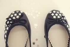 DIY star shoes for the birthday girl.