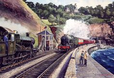 Fine Art Prints of Railway Scenes & Train Portraits - Teignmouth by ...