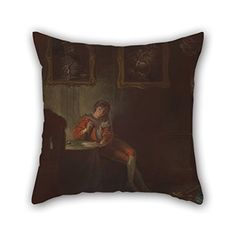 Alphadecor Oil Painting Robert Smirke  The Seven Ages Of Man The Lover As You Like It II Vii Throw Pillow Covers 20 X 20 Inches  50 By 50 Cm For Loungebenchfamilydivanchristmasteens Bo *** Want to know more, click on the image.