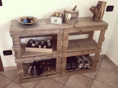 Consolle ingresso con pallet