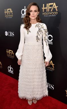 The actress ditches her go-to Chanel frocks for a whimsical Giambattista Valli design at the 2014 Hollywood Film Awards.