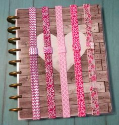 Pink Planner Bands with Pen Loops - You Choose Print - Planner Accessories for Erin Condren, Happy Planner, Kikki K, Filofax, Inkwell & more by DestinyMarieDesigns on Etsy