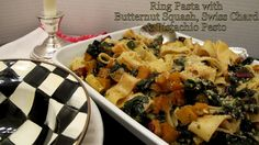 Ring Pasta with Pistachio Pesto, Butternut Squash & Kale coming soon on our new health-conscious menus!