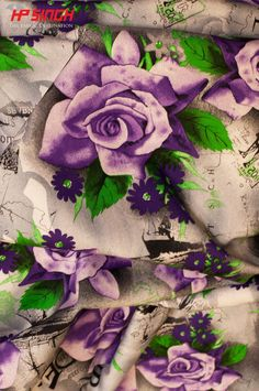 Rose print on Cotton Poplin