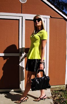 Leather & Peplum Leather Peplum, Forever 21 Skirt, Gianni Bini, J Crew, Ralph Lauren, Bangles, Bracelets, David Yurman, My Style