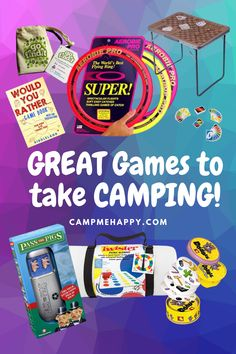 Easy and compact games to take camping that will provide hours of fun for EVERYONE!