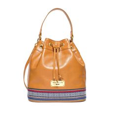 BOHO leather bucket bag by Annamaria Pap