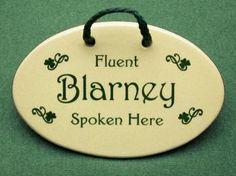 6 in x 4 in Fluent blarney spoken here. $15.99
