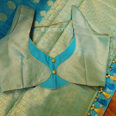 Netted Blouse Designs, Simple Blouse Designs, Stylish Blouse Design, Patch Work Blouse Designs, Blouse Designs Catalogue, Kurta Neck Design, Designer Blouse Patterns, Blouse Neck, Saree Blouse