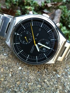Seiko 6138-3000. Beautiful automatic mechanical chronograph, early 1970s. A true classic.