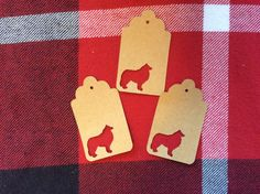 Die Cut Collie Tag by NatureCuts on Etsy
