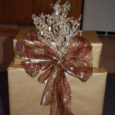 Crystals holiday gift wrapping