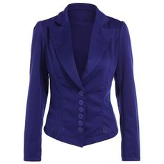 22.59$  Buy here - http://dieil.justgood.pw/go.php?t=196924612 - Asymmetric Lapel Single Breasted Blazer