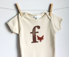 F is for Fox  American Apparel Organic by LittleBlueFeathers, $16.95