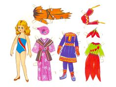 Karnival paper doll from Finland