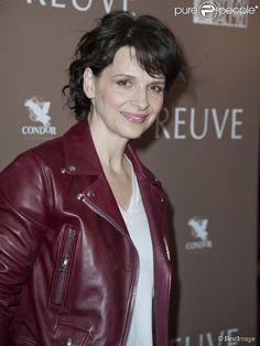 """Juliette Binoche à l'avant-première du film """"L'Epreuve"""" au cinéma UGC Ciné Cité des Halles à Paris, le 27 avril 2015."""