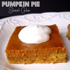 Pumpkin Pie Sheet Cake Recipe - Jamie Cooks It Up! & ZipList