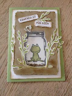 Stempellicht: Glasklare Grüße mit Frosch