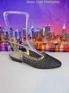 Womens shoes VTG ANA BONILLA COLLECTION silver SPAIN Low Dress Slingback 6 M #AnaBonillaCollection #Slingbacks