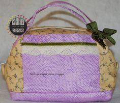 Neceser romantico malva verde. Mauve green romantic toilet bag. pilicose.blogspot.com.es