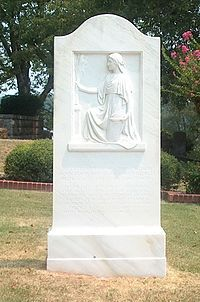 The only U.S. First Lady buried in GA is buried in Myrtle Hill Cemetery in Rome. Ellen Axson Wilson, was the first wife of President Woodrow Wilson. She died August 6, 1914. After her death, her body was taken to Rome by a train. The procession, a two-horse drawn funeral carriage, from First Presbyterian Church to Myrtle Hill Cemetery passed down Broad Street, which was lined with Romans. Mrs. Wilson was buried with her father, her mother, and her brother.