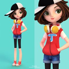 Donna by yinxuan Li Dezarmenien Character Designer, Character Design Sketches, Character Design Cartoon, 3d Model Character, Character Concept, Character Art, Diploma In Fashion Designing, Fashion Designing Institute, Fashion Designing Course