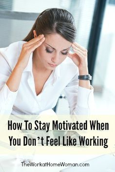 Has spring fever gotten the best of you? Today I share some tips on how to stay motivated. via The Work at Home Woman