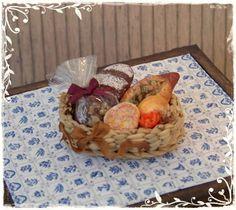 1:12 En miniatura de casa de muñecas de cesta de pan rústico por Soraya Merino
