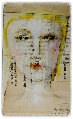 holy dolly ~ watercolors, oil pastels and gouache on old paper / by Lynne Hoppe