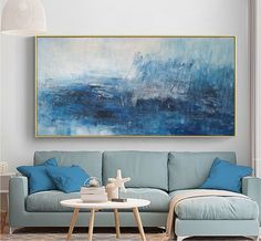 Large Abstract Sky Oil Painting,Large Abstract Art,Abstract Painting on Canvas,Original Abstract Art Painting,Large Wall Canvas Oil Painting Blue Abstract Painting, Oil Painting On Canvas, Sky Painting, Painting People, Green Paintings, Art Paintings, Large Wall Canvas, Painted Canvas, Hand Painted