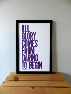 Grape Inspirational Wall Decor All Glory Comes by happydeliveries, $20.00