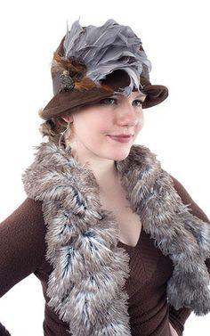 fdd5fa18df8 Grace Cloche Style Hat - Chocolate Faux Suede