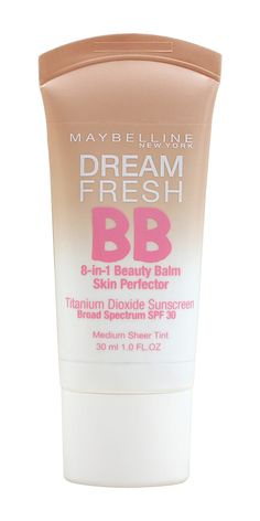__For Oily/Normal Skin: Maybelline New York Dream Fresh BB Cream Skin Perfector__ Drugstore Bb Cream, Drugstore Makeup, Maybelline Products, Grand Prix, Mascara, Benefit Makeup, Beauty Balm, Cream For Dry Skin, Beauty Products