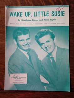 Wake Up Little Susie, The Everly Brothers Sheet Music