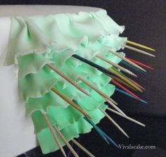 how to make ruffles on a cake | Ruffles Ruffles And More Ruffles!!! tutorial: how to make fondant ...