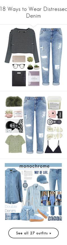 """""""18 Ways to Wear Distressed Denim"""" by polyvore-editorial ❤ liked on Polyvore featuring distresseddenim, waystowear, WithChic, Miss Selfridge, Crate and Barrel, 3.1 Phillip Lim, Spitfire, Laura Ashley, Monki and Elie Saab"""