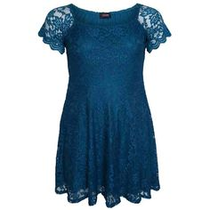 PRE-ORDER - Teal Lace Skater Dress With Short Sleeves $100.00 http://www.curvyclothing.com.au/index.php?route=product/product&path=95_105&product_id=8463