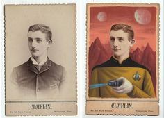 Vintage Photos Remixed into Superheroes and Sci-Fi Characters, by L.A. artist Alex Gross.