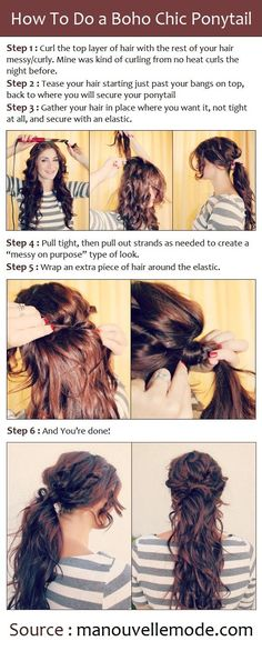 Beauty Tip: DIY Hair / a Boho Chic Ponytail Tutorials - Fereckels
