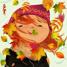 Art And Illustration, Art Drawings For Kids, Leaf Coloring, Fall Wallpaper, Autumn Photography, Autumn Art, Hello Autumn, Fall Crafts, Graphic