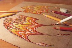 Fire dragon's wings - work in progress by AlviaAlcedo.deviantart.com on @deviantART