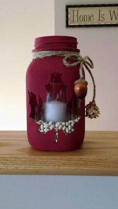 Made with my cricut Fall Crafts, Holiday Crafts, Diy Crafts, Handmade Christmas Decorations, Christmas Centerpieces, Mason Jar Crafts, Bottle Crafts, Christmas Mason Jars, Christmas Crafts