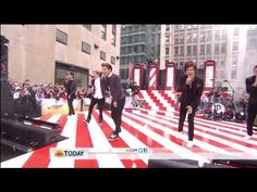 """.....frozen, It's raining."" One Direction perform One Thing on TODAY HD"