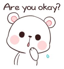 Bear Couple : Milk & Mocha by Shortie sticker Cute Couple Cartoon, Cute Love Pictures, Cute Cartoon Pictures, Cute Love Gif, Cute Love Cartoons, Cute Anime Pics, Gif Lindos, Memes Lindos, Cute Bear Drawings