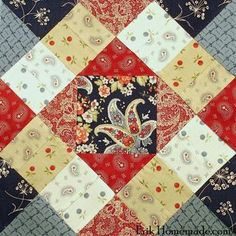 B Franklin Mystery Block 2 Clk on Ben on right side to get all 18 blocks Quilt Block Patterns, Pattern Blocks, Quilt Blocks, Strip Quilts, Mini Quilts, Quilting Projects, Quilting Designs, Sewing Projects, Civil War Quilts