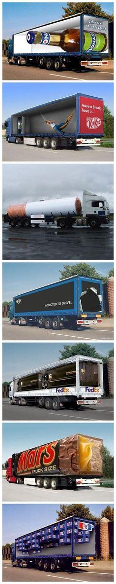 Publicidad en camiones.
